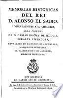 Memorias historicas del Rei Alonso el Sabio