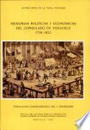 Memorias políticas y económicas del Consulado de Veracruz, 1796-1822