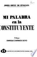 Mi palabra en la Constituyente
