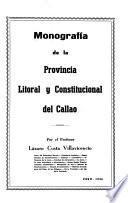 Monografía de la provincia litoral y constitucional del Callao