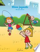 Niños jugando libro para colorear 1