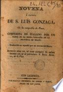 Novena a honra de S. Luis Gonzaga ...