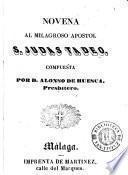 Novena al milagroso apostol S. Judas Tadeo