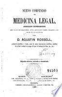 Nuevo compendio de medicina legal