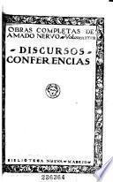 Obras completas de Amado Nervo ...: Discursos. Conferencias