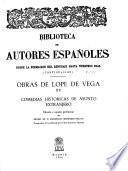 Obras de Lope de Vega: Comedias históricass de asunto extranjero