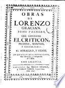 Obras de Lorenzo Gracián, 1