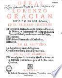Obras de Lorenzo Gracian divididas en dos tomos