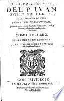 Obras philosophicas P. J. E. Nieremberg ... ethicas, politicas, y phisicas ... Tomo tercero de sus obras en Romance