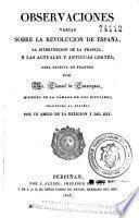 Observaciones varias sobre la Revolución de España