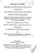 Oração sagrada que nas exequias de Exma. Sra. D. Joanna Bernarda de Sousa Lencastre e Noronha, Marqueza das Minas e Condeça do Prado, ... recitava Fr. F. de S. B.