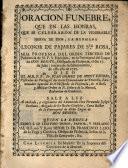 Oración fúnebre de la Venerable Sierva de Dios la Hermana Leonor de Pajares de Santa Rosa