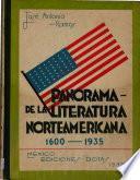 Panorama de la literatura nortamericana (1600-1935)