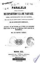 Paralelo entre la vida militar de Espartero y la de Narvaez...