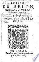 Pastores De Belen, Prosas, Y Versos diuinos