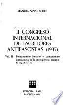 Pensamiento literario y compromiso antifascista de la inteligencia española republicana