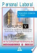 Personal Laboral de la Comunidad Autonoma de Castilla Y Leon. Grupo V.temario Comun Y Test Ebook