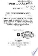 Phisiología chimica del cuerpo humano