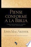 Piense Conforme La Biblia