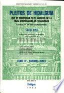 Pleitos de hidalguía que se conservan en el Archivo de la Real Chancillería de Valladolid: Babiano-Bobes
