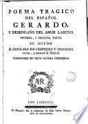Poema trágico del español Gerardo y desengaño del amor lascivo