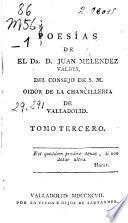 Poesías de ... Juan Meléndez Valdes ...
