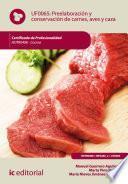 Preelaboración y conservación de carnes, aves y caza. HOTR0408