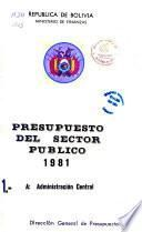 Presupuesto general del sector público