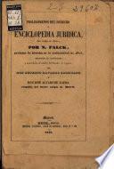 Prolegomenos del derecho o enciclopedia jurídica