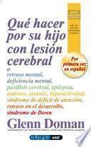 Qué hacer por su hijo con lesión cerebral