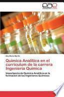 Química Analítica en el curriculum de la carrera Ingeniería Química