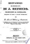 Recitaciones del derecho civil, 1