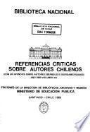 Referencias críticas sobre autores chilenos