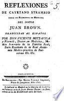 Reflexiones de Cayetano Strambio sobre los elementos de medicina del doctor Juan Brown