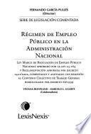 Régimen de empleo público en la administración nacional