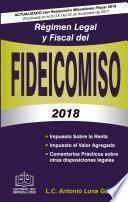 RÉGIMEN LEGAL Y FISCAL DEL FIDEICOMISO EPUB 2018