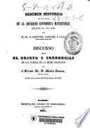 Resúmen histórico de las tareas de la Sociedad Económica Matritense durante el año 1850