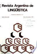 Revista argentina de lingüística