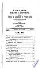 Revista de derecho, legislación y jurisprudencia del Colegio de Abogados de Puerto Rico