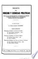 Revista de derecho y ciencias políticas