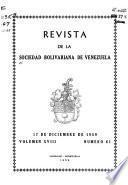 Revista de la Sociedad Bolivariana de Venezuela