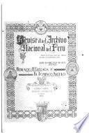 Revista del Archivo Nacional del Perú