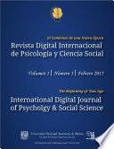 Revista Digital Internacional de Psicología y Ciencia Social   Vol. 1   Num. 1   2015
