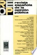 Revista espanola de la opinion publica