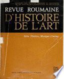 Revue roumaine d'histoire de l'art