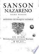 Sanson Nazareno. Poema heroico. Por Antonio Henriquez Gomez