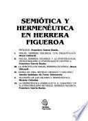 Semiótica y hermenéutica en Herrera Figueroa