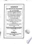 Sermón en tributo de gratitud al Altísimo con motivo del regreso de la comunidad de San Francisco a la ciudad de La Habana, incorporada por superior disposición con la de su orden en la Villa de Guanabacoa, predicado en 28 Enero 1844 por el Prebítero Dr. Manuel Echeverría y Peñalvor...