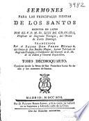 Sermones para las principales fiestas de los Santos