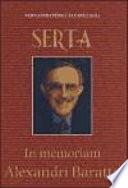 Serta in memoriam Alexandri Baratta